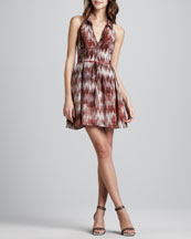 Elizabeth and James Molly Printed Halter Dress