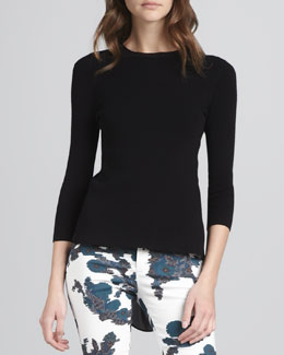 Theyskens' Theory Kelaz High-Low Sweater