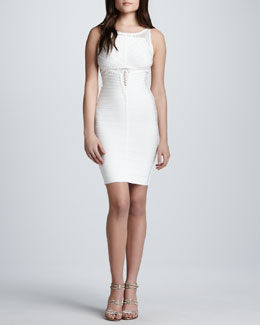 Herve Leger Sleeveless Dress with Cutouts