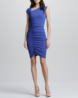 Halston Heritage Asymmetric Fitted Dress
