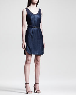 Rag & Bone Dana Belted Knit Dress, Navy