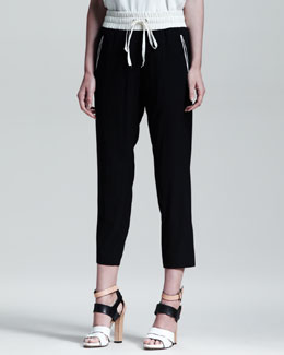Rag & Bone Contrast Waistband Easy Pants