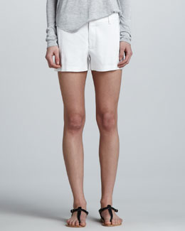 Vince Stretch-Linen Trouser Shorts
