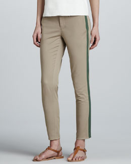 Vince Side-Stripe Twill Pants