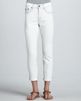 Vince Distressed Relaxed Cropped Jeans