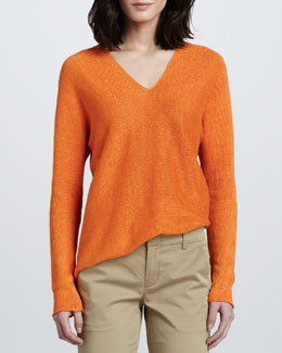 Vince Linen V-Neck Sweater