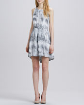 Rebecca Taylor Animal-Print Dress