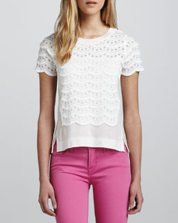 MARC by Marc Jacobs Lace Tiered Top