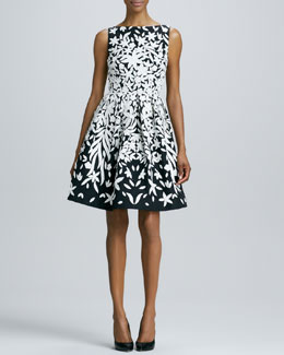 Naeem Khan Appliquéd Cocktail Dress