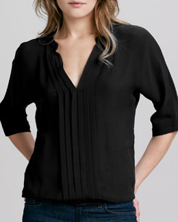 Joie Marru Silk Blouse, Caviar