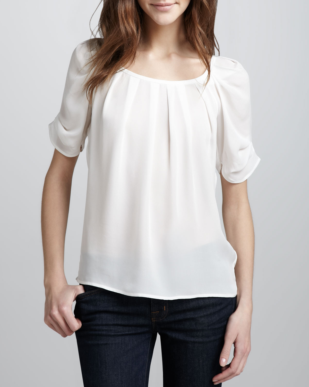Joie Eleanor Silk Blouse, Size: SMALL, Porcelain