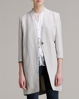 Helmut Lang Matrix Linen-Blend Coat