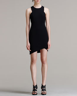 HELMUT Helmut Lang Form Asymmetric-Hem Dress