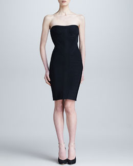 Herve Leger Strapless Sweetheart Bandage Dress
