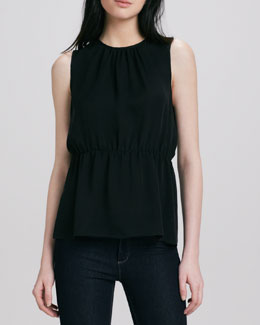 Theory Jethria Cinched-Waist Top