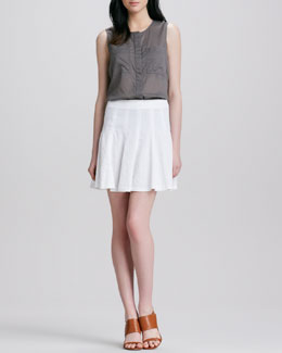 Theory Eliza Fluted Skirt