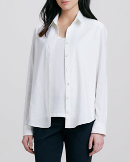 Theory Tritta Button-Down Blouse