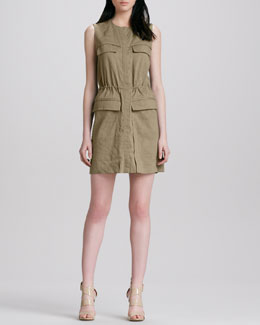 Theory Sebiya Cinch-Waist Dress