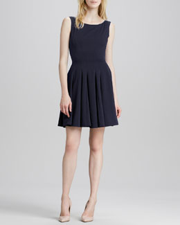 Theory Kaien Pleated Sleeveless Dress