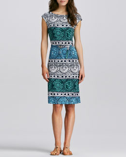 Tory Burch Kalvin Printed Jersey Dress