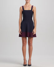 Herve Leger Ombre-Skirt Bandage Dress