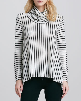 Striped Draped Turtleneck