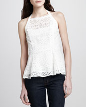 Nanette Lepore Must-See Sleeveless Lace Top
