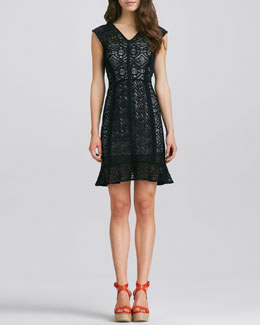 Nanette Lepore La Roca Lace Dress, Black