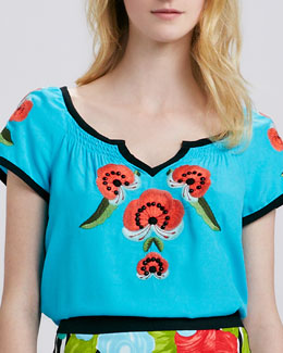 Nanette Lepore La Boqueria Embroidered Top