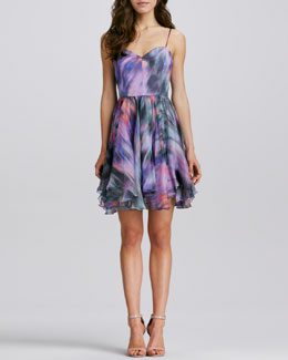 Milly Gemma Printed Silk Dress