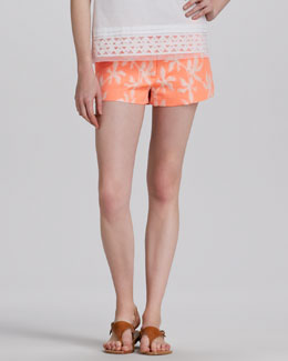 Milly Printed Beach Shorts