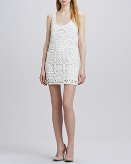 Joie Elida Crochet-Overlay Dress