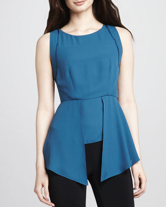 Laurence Asymmetric-Peplum Top