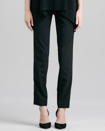 Relaxed Stretch-Wool Trousers