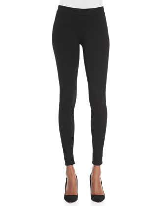 Scrunch-Ankle Ponte Leggings