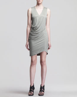 HELMUT Helmut Lang Shale Side-Tuck Jersey Dress