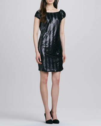 Clare Sequined Low-Back Dress