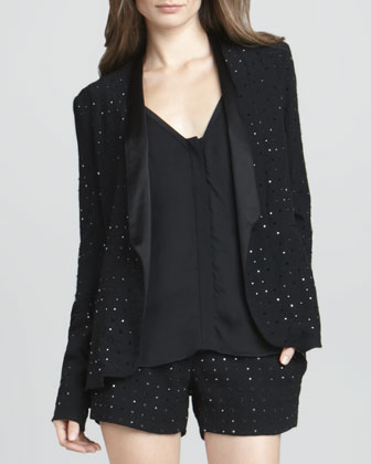 Paulette Hot-Fix Crystal Jacket