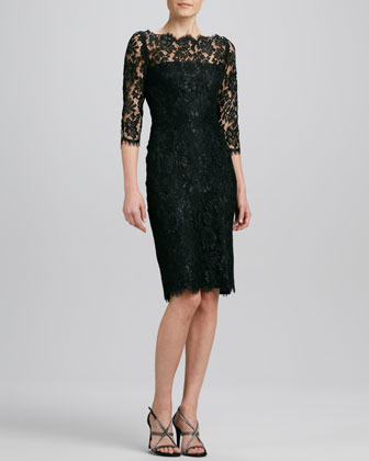 Glitter Lace Cocktail Dress