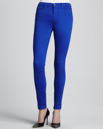 Maria Power-Stretch High-Rise Jeans, Iris