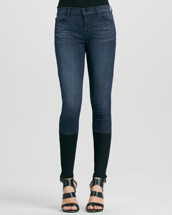 Snowbird Knit-Cuff Skinny Photo Ready Jeans