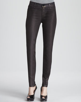 Super Skinny Coated Jeans