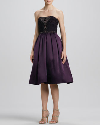 Strapless Embroidered/Sequined Party Dress