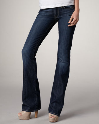 Boot-Cut NY Dark-Wash Jeans, 32