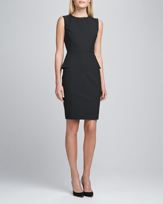 Judy Peplum Dress, Black