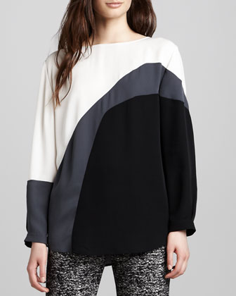 Tricolor Silk Top
