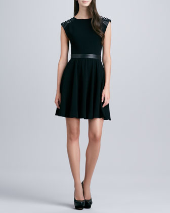 Kerry Stud-Shoulder Dress
