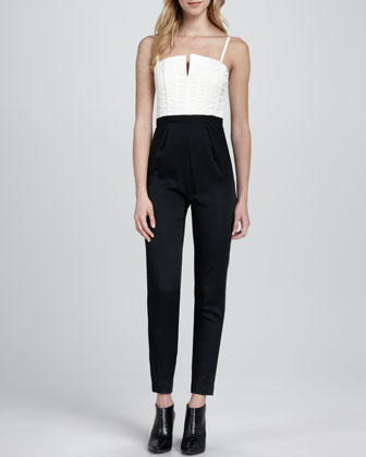 Arrow Two-Tone Jumpsuit