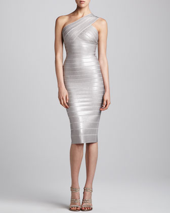 One-Shoulder Sequined Dress