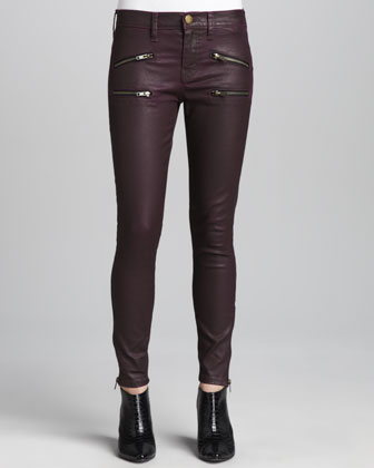 The Soho Coated Stiletto Jeans, Purple